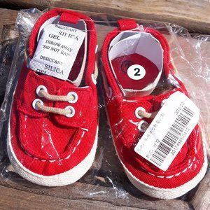 Red Baby Shoes Size 2 NIP